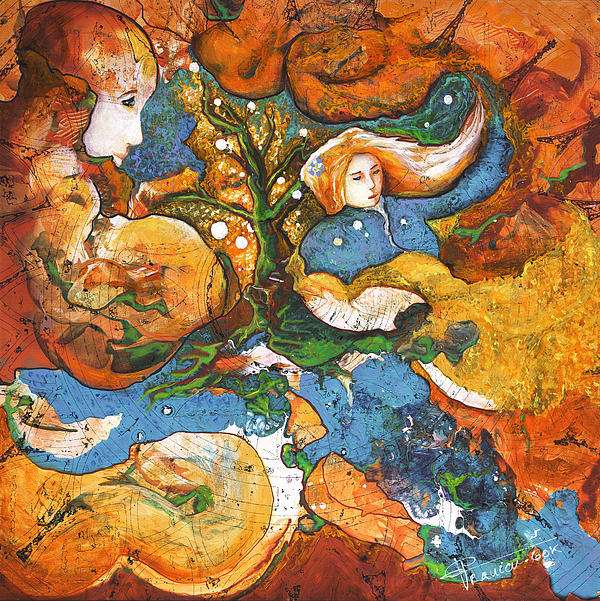 Earth Painting - A World Apart by Valerie Graniou-Cook