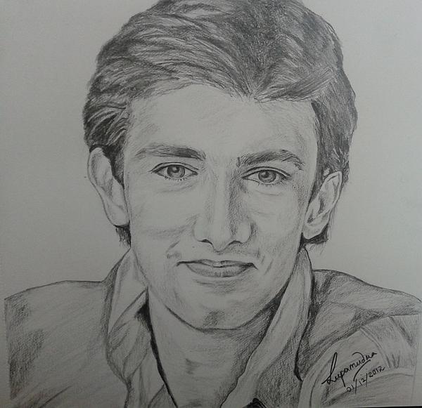 Celebrity Portrait Drawing - Aamir Khan by Lupamudra Dutta
