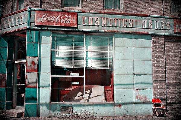 Abandoned Photograph - Abandoned Drug Store by DeeLusions Photography