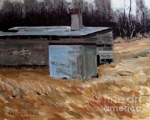 Ice House Painting - Abandoned Ice House Circa Late 1800.s by Charlie Spear