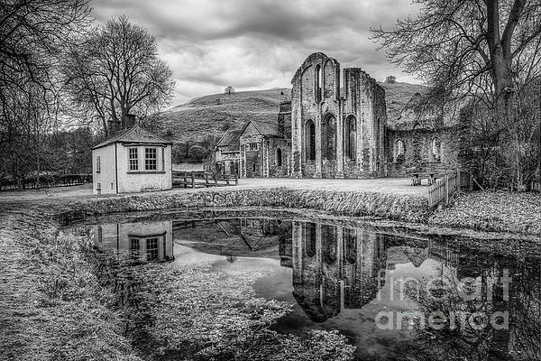 Valle Crucis Photograph - Abbey Reflections by Adrian Evans