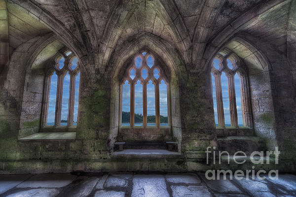 13th Century Photograph - Abbey View by Adrian Evans