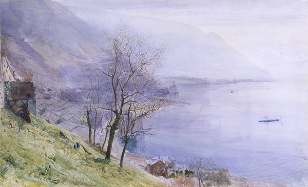 Switzerland Drawing - Above Montreux by John William Inchbold