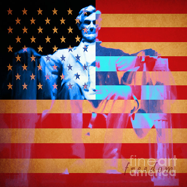 Civil War Photograph - Abraham Lincoln - Freedom by Wingsdomain Art and Photography