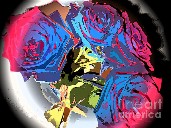 Roses Photograph - Abstract Cluster Of Roses by Minding My  Visions by Adri and Ray