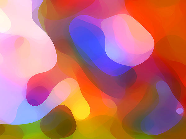 Abstract Art Painting - Abstract Dappled Sunlight by Amy Vangsgard