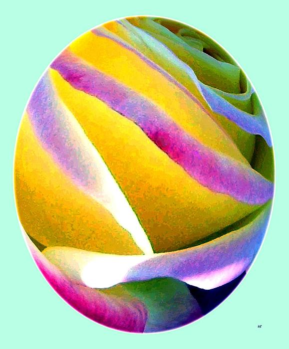 Abstract Digital Art - Abstract Rose Oval by Will Borden