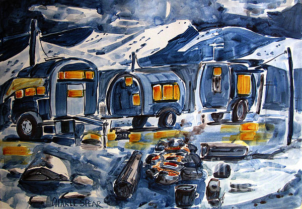 Camping Painting - Acampada by Charlie Spear