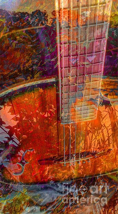 Acoustic Photograph - Acoustic Dreams Digital Guitar Art By Steven Langston by Steven Lebron Langston