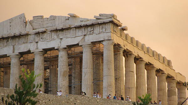 Photograph - Acropolis Of Athens  by Suzy  Godefroy