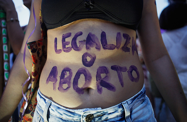 Activists In Brazil March For Womens Rights On International Womens Day Photograph by Mario Tama