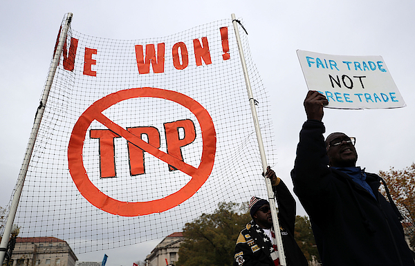 Activists Protest Trans-pacific Partnership In Washington Dc Photograph by Alex Wong