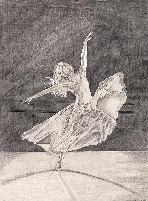 Ballet Painting - Adagio by Beverly Marshall