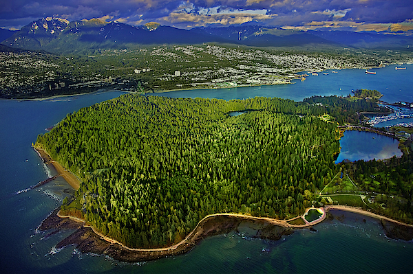 Aerial Image Of Stanley Park, Vancouver, Canada Photograph by Bill Heinsohn
