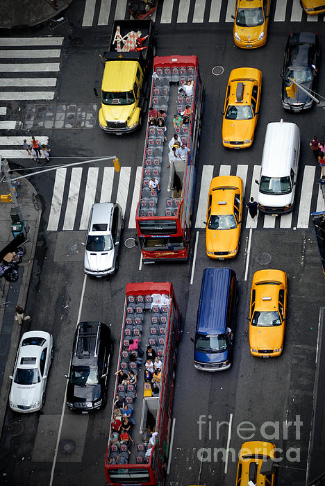 Aerial View Photograph - Aerial View Of New York City Traffic by Amy Cicconi