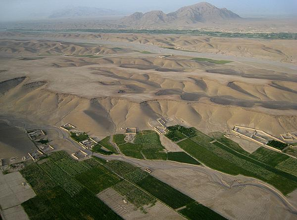 Afghanistan Photograph - Afghan Village From The Air In Helmand Province by Jetson Nguyen