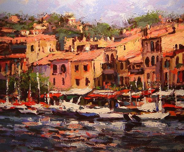Cassis Painting - Afternoon In Cassis by R W Goetting