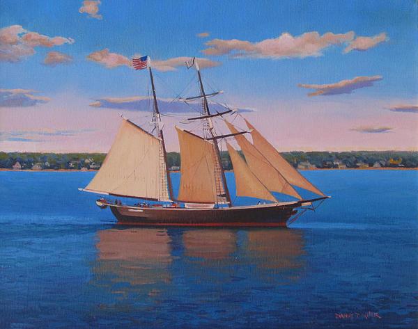 Schooner Painting - Afternoon Sail by Dianne Panarelli Miller