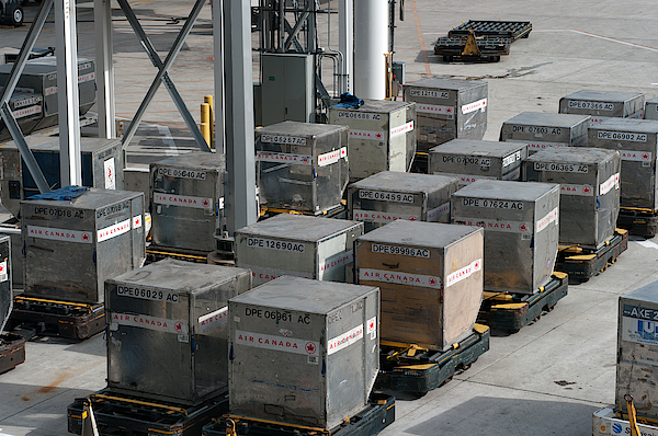 Air Canada Shipping Containers Photograph by SimplyCreativePhotography