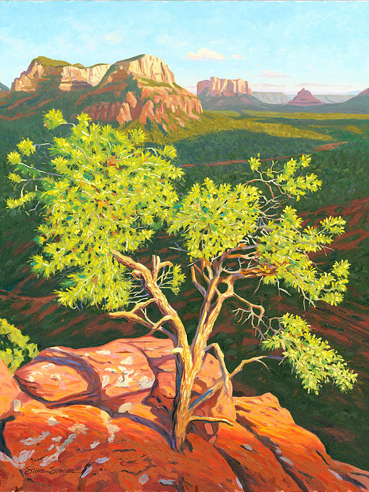 Bell Rock Painting - Airport Mesa Vortex - Sedona by Steve Simon