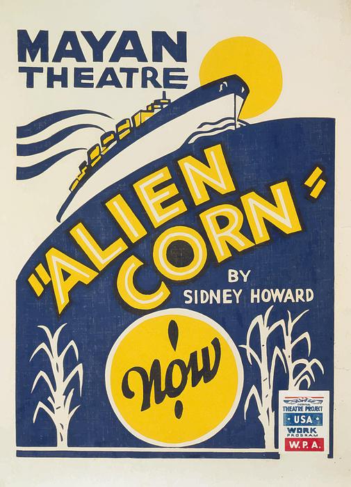 Vintage Painting - Alien Corn by American Classic Art