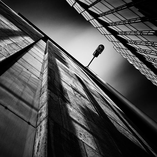 Architecture Photograph - Alley Lamp by Dave Bowman