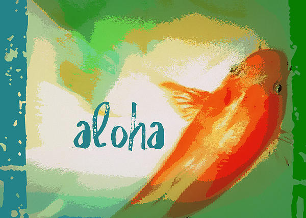 Aloha Koi Painting by Wendy Wiese