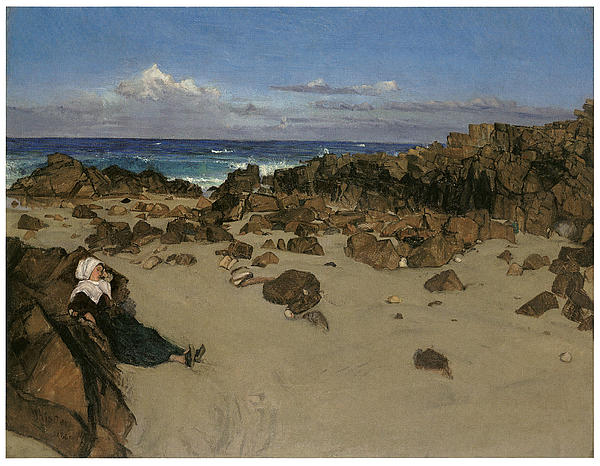 Victorian Era Painting - Alone With The Tide by James Abbott McNeill Whistler