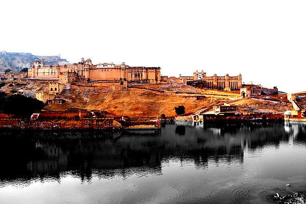 Landscape Photograph - Amber Palace - Jaipur- Viators Agonism by Vijinder Singh