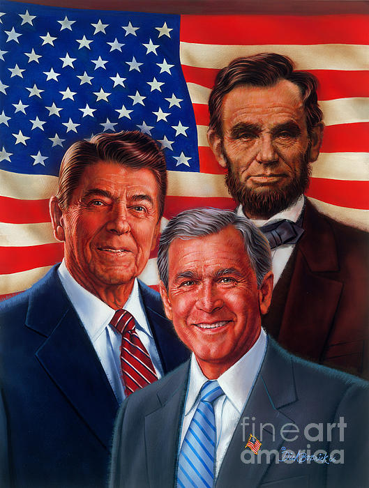 Portrait Painting - American Courage by Dick Bobnick