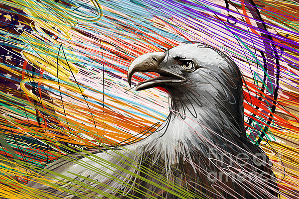 Eagle Digital Art - American Eagle by Peter Awax