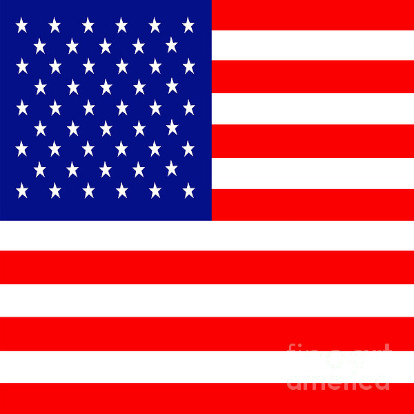 Usa Photograph - American Flag . Square by Wingsdomain Art and Photography
