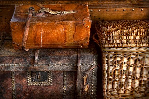 Luggage Photograph - Americana - Emotional Baggage  by Mike Savad