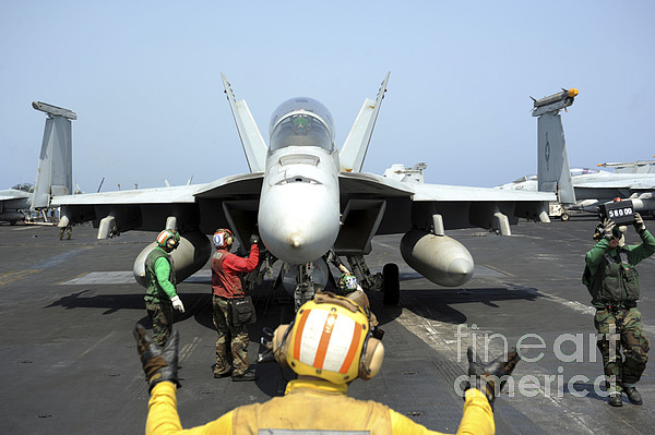 Military Photograph - An Aircraft Director Signals by Stocktrek Images
