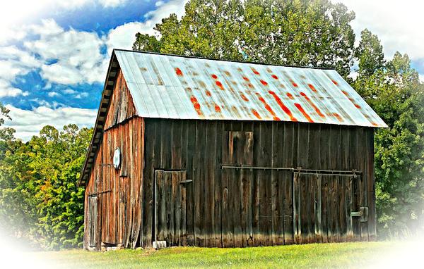 Barn Photograph - An American Barn 2 Oil by Steve Harrington
