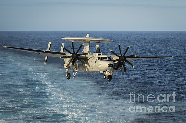 Military Photograph - An E-2c Hawkeye Prepares To Land by Stocktrek Images
