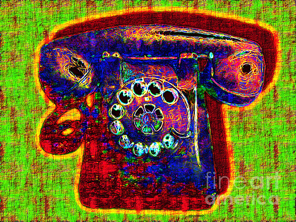 Analog Photograph - Analog A-phone - 2013-0121 - V2 by Wingsdomain Art and Photography