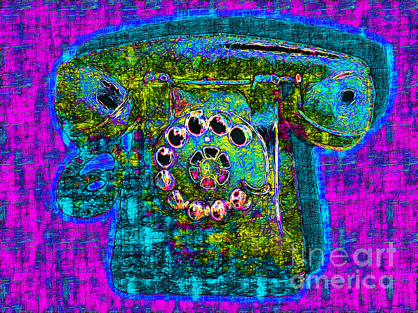 Analog Photograph - Analog A-phone - 2013-0121 - V3 by Wingsdomain Art and Photography
