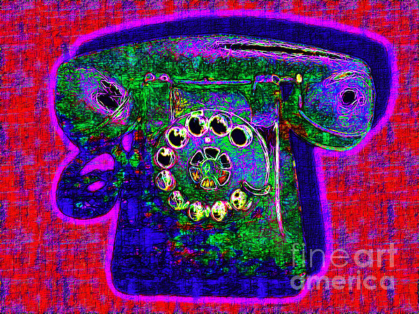 Analog Photograph - Analog A-phone - 2013-0121 - V4 by Wingsdomain Art and Photography