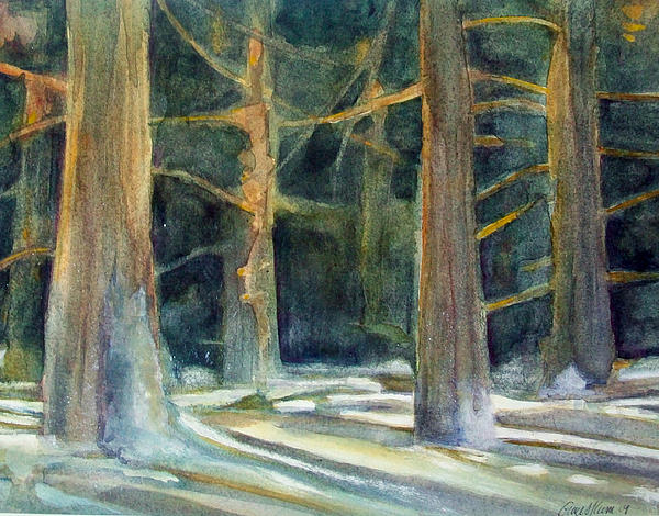 Winter Painting - Ancient Light by Grace Keown