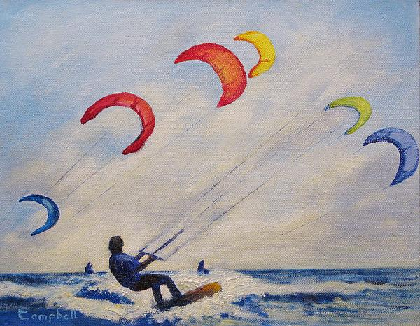 Beach Painting - And Youll Take To The Skies by Cecelia Campbell