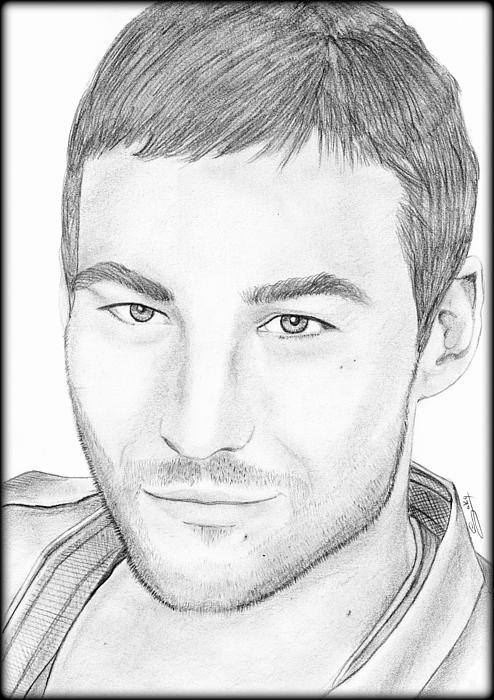 Andy Whitfield Painting - Andy Whitfield  by Saki Art