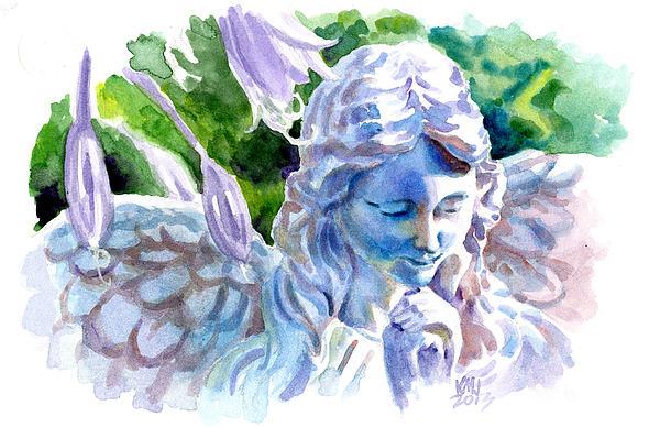 Sculptures Painting - Angel In Stone by Ken Meyer jr