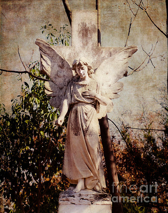 Cemetery Photograph - Angel Of Old by Sonja Quintero