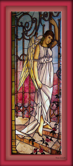 Stained Glass Photograph - Angel Stained Glass Window by Thomas Woolworth