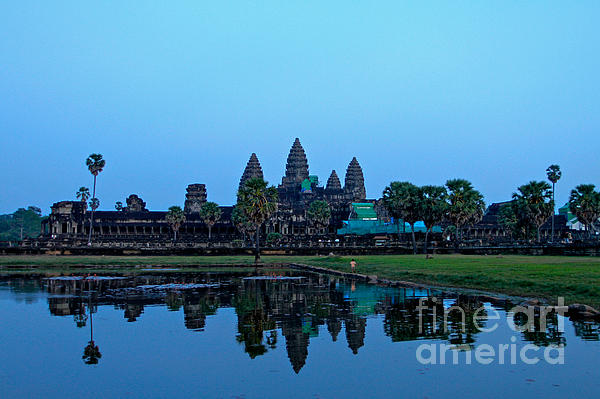 Angkor Wat Photograph - Angkor Wat Reflection by Donald Chen