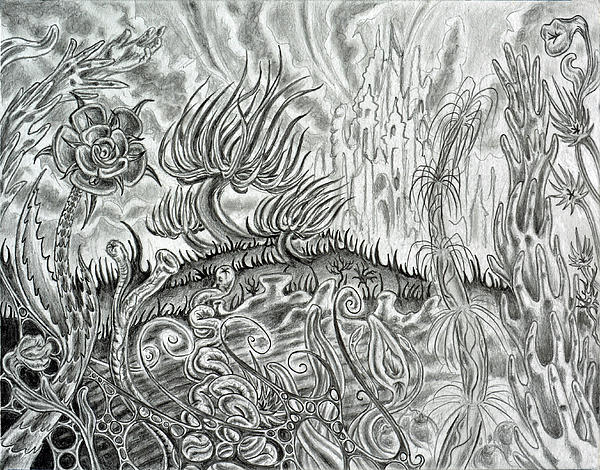 Surreal Drawing - Angst Ridden by Steven Bales