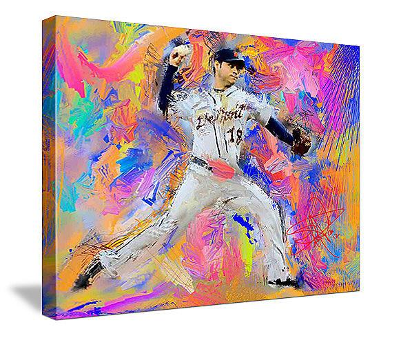 Baseball Painting - Anibal Sanchez by Donald Pavlica