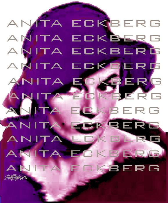 Sethweaver Digital Art - Anita Eckberg In Wine by Seth Weaver