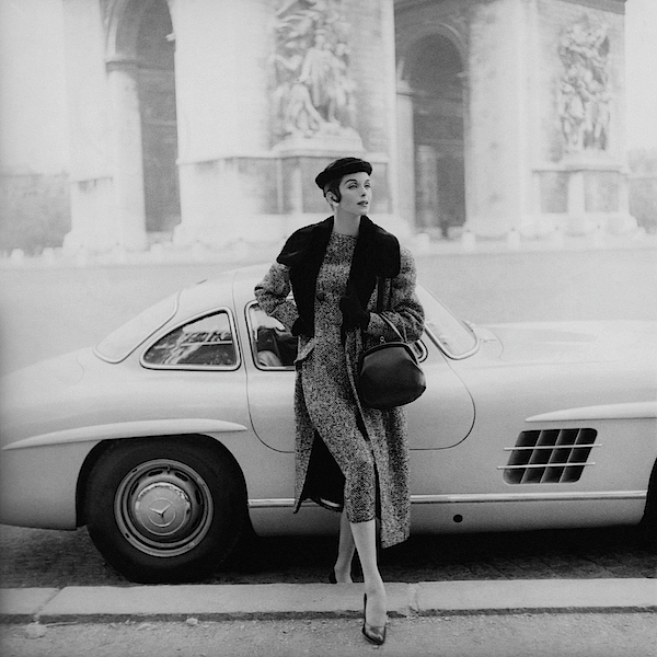 Anne St. Marie By A Mercedes-benz Car Photograph by Henry Clarke